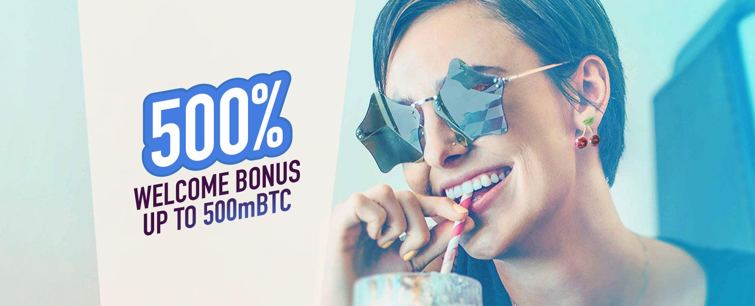 500% Welcome Bonus